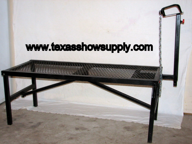 Goat Grooming Stands http://www.texasshowsupply.com/Sheep%20Stand.htm